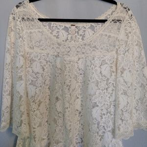 Free People Tops - Free People Floral Lace Peplum Top